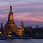 Wat Arun (Temple of the Dawn) just after sunset - Bangkok
