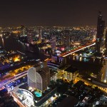 Nightscape taken from lebu at State Tower - Bangkok