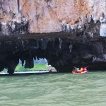 Canoeing through the caves of Phang Nga Bay