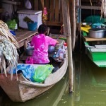 Floating market on outskirts of Bangkok