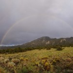 Awesome double rainbow after the rainstorm