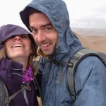 Only picture atop Star Dune as it was windy and raining.  Made a bee line off the peak after this picture.