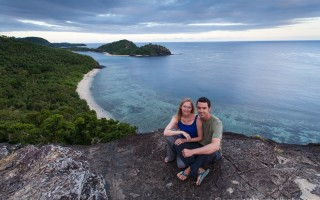 Kenny and Laura on Barefoot Island, Fiji
