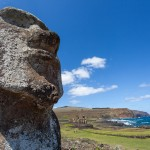 Lone moai at Ahu Tongariki