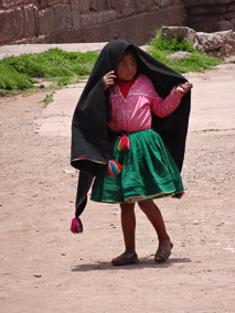 Young girl on Taquile Island