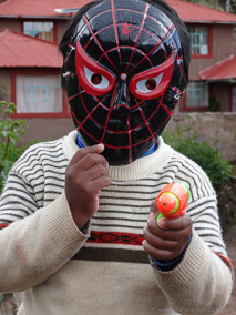 Spider Man on Taquile Island