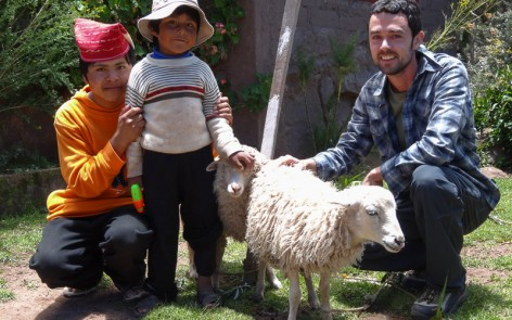 Kenny with Santos, Wilfredo and their sheep