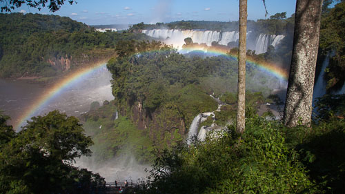 Rainbow at Iguazu Falls, Argentina