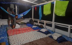 Sleeping quarters on-deck for Komodo island tour