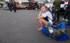 Waiting at the Bima, Sumbawa bus station to 'fix' a bus ticket issue