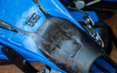 Close up of dive fins