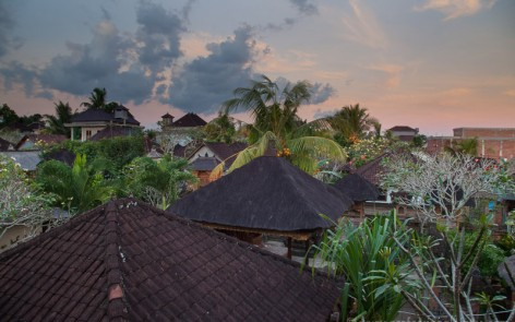 View from our home stay balcony at dawn