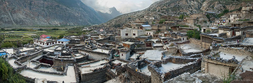 Panorama of Marpha, Nepal